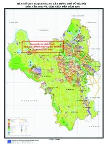 Bản đổ quy hoạch Hà Nội đến năm 2020